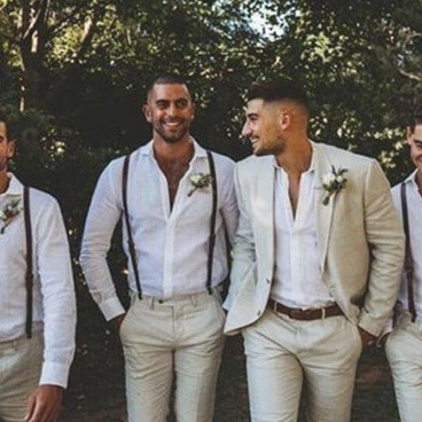 The First Thing That You Should Do On Your Wedding Night So That You Can Appreciate It And Ma In 2020 Groomsmen Suspenders Suspenders Wedding Wedding Groomsmen Attire