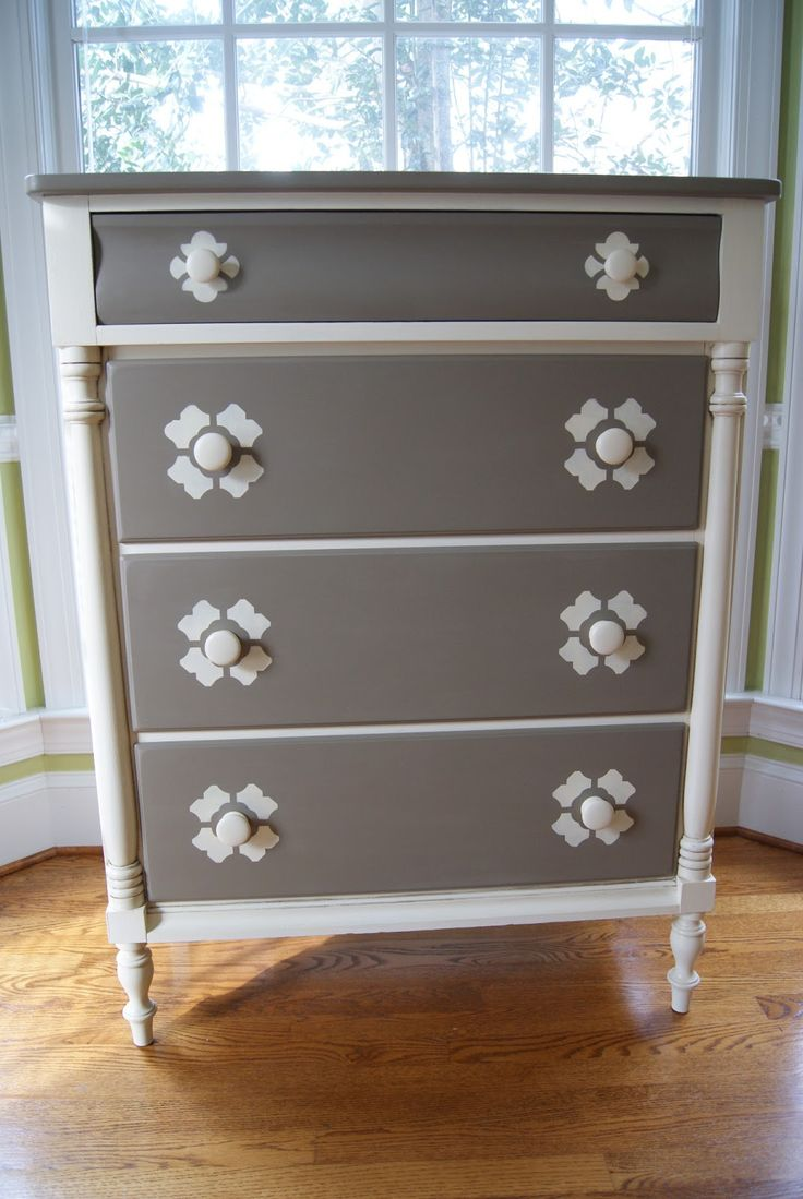 two tone furniture painting. not a fan of style but perhaps the color combotwo tone dresser in coco and old white two furniture painting