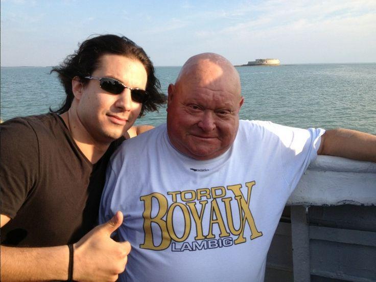 With La Boule from Fort Boyard  - Source : Jérémy's twitter
