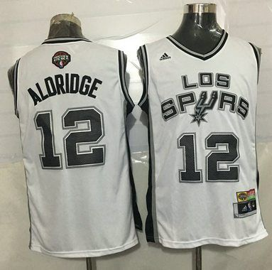 4e1c900cf ... New Revolution 30 Swingman Road Grey Jersey Mens San Antonio Spurs 12  LaMarcus Aldridge Noche Latina White Revolution 30 Swingman Jersey ...