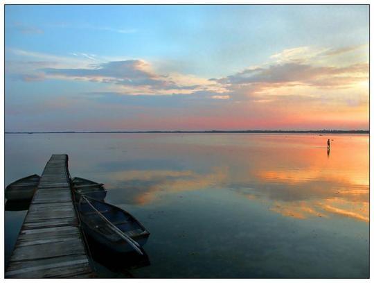 Lake Balaton the peaceful.