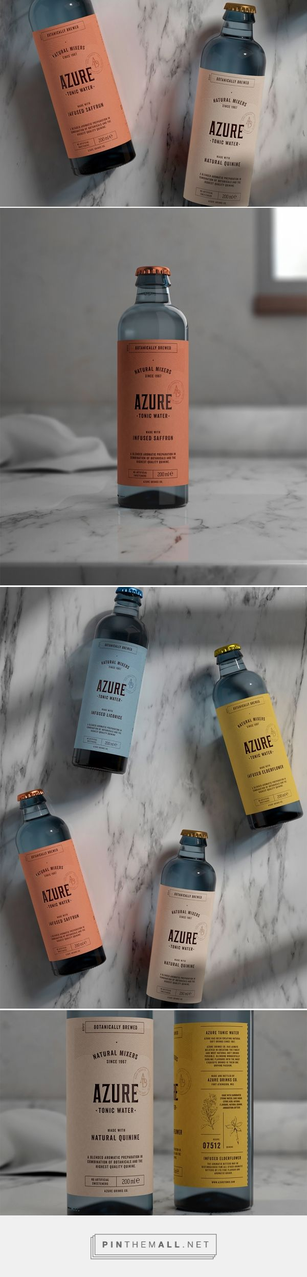 Azure Tonic Water Packaging by Pep Bernat Vizcaya | Fivestar Branding Agency – Design and Branding Agency & Curated Inspiration Gallery