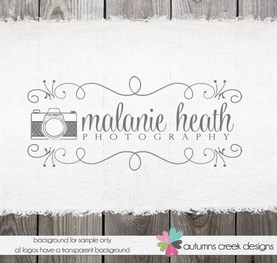 Photography Logo Premade Logo Design Vintage Camera Logo Watermark Design
