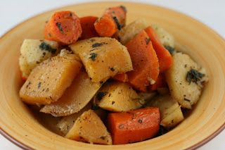 A Year of Slow Cooking: CrockPot Roasted Winter Root Vegetables