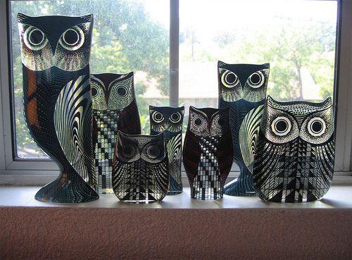 Palatnik Lucite Owls