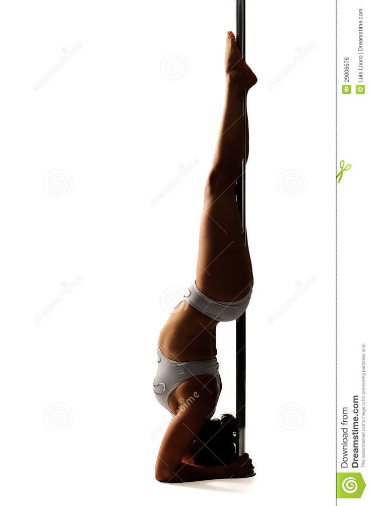 Pole Dancer Isolated In White Clipart