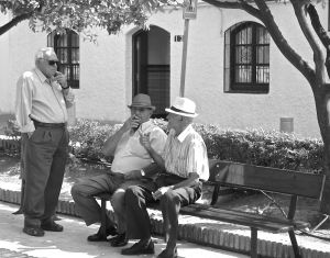 Orange tree square- Local gentlemen