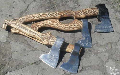 Nice Hand Carved Ax Handles I Want One Axe Pinterest