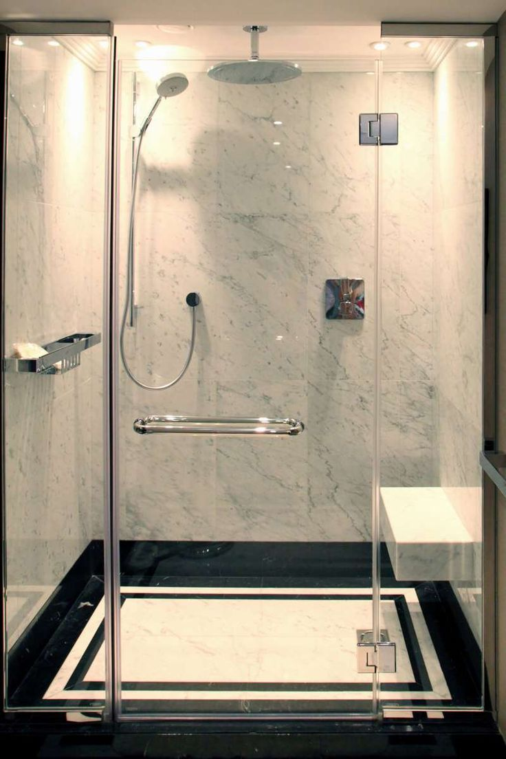 Glass Door Granite Shower                                                       …