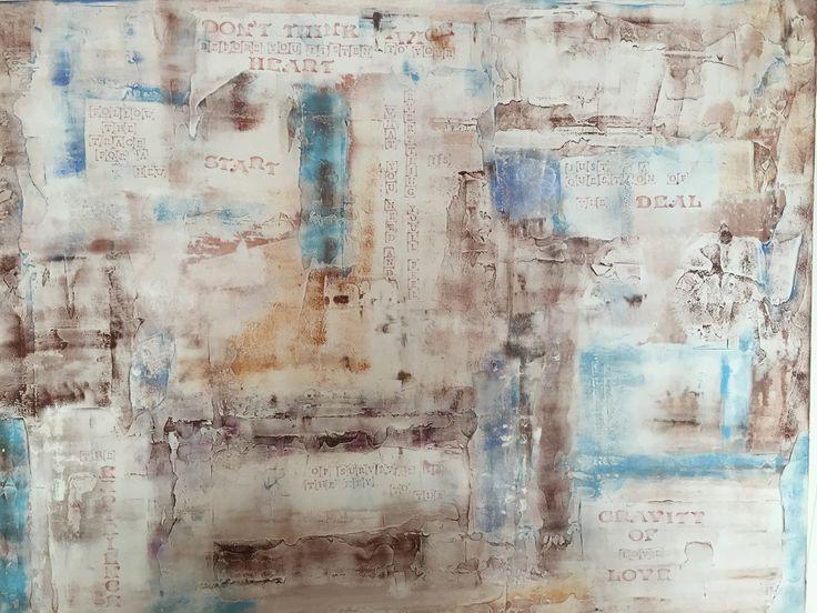 """Gravity of love"" by Maria Fosli 100x70 acrylic"
