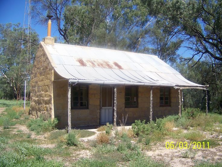 Very Old Stone Cottage at Paisley Creek Wet Land near River Murray at Blanchetown, South Australia