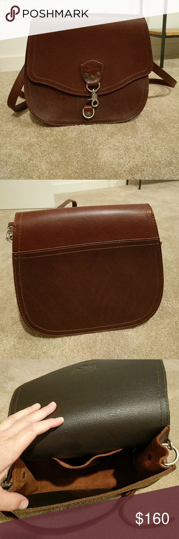 Saddleback Leather Hobo Bag Dark Coffee Brown bag from the Saddleback Leather Company.  This item can be worn cross-body or over the shoulder.  Item has only been used once or twice, very good condition and durable. saddleback leather co Bags Hobos