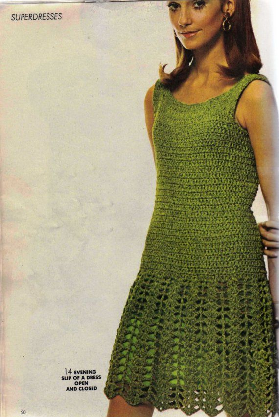 Late Day Crocheted Dress Pattern - PDF on Etsy, $4.79 CAD