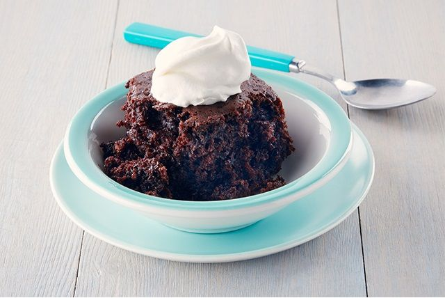 Let them eat slow-cooker cake! This double chocolate cake is moist and delicious—and it starts with a boxed mix, so it's easy too!