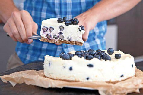 Das Rezept für Blaubeerkuchen mit weisser Schokolade mit allen nötigen Zutaten und der einfachsten Zubereitung - gesund kochen mit FIT FOR FUN