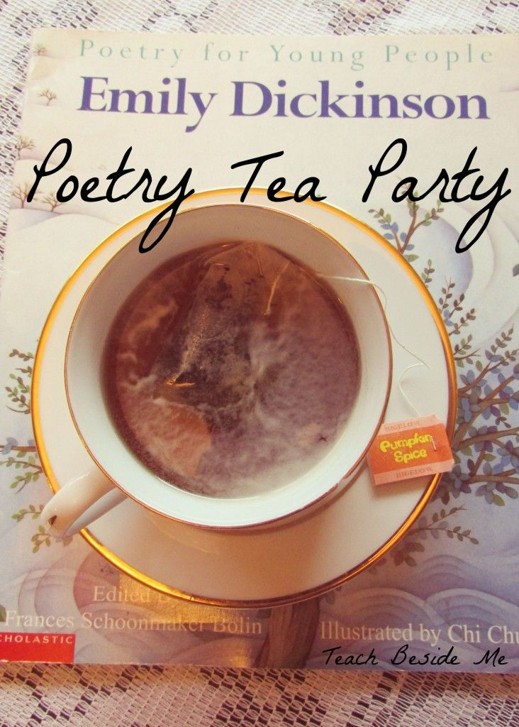 Poetry Tea Party ~ we do this in our homeschool when we study poetry. It has been such a fun new tradition! #MeAndMyTea #ad @bigelowtea