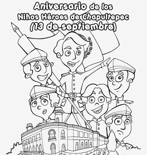 Tu Tarea Portada De Los Ninos Heroes Los Ninos Heroes Ninos Heroes De Chapultepec Ninos Heroes Para Colorear