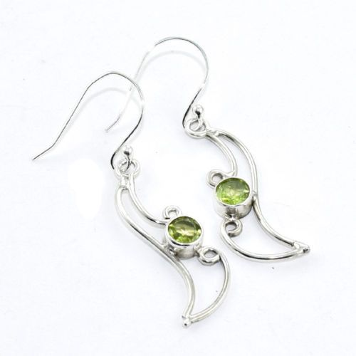 An #extremely #impressive #Peridot #Quartz Solid 925 Sterling Silver #Earrings #Jewelry   for more visit: akratijewelsinc.com