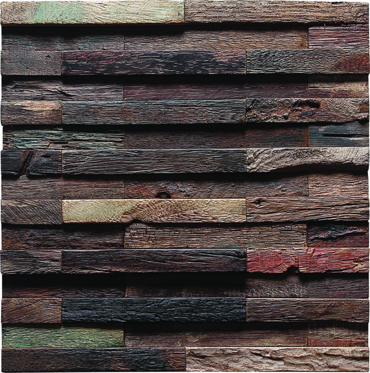 Dimensional Reclaimed Wood Mosaic Tile These Durable