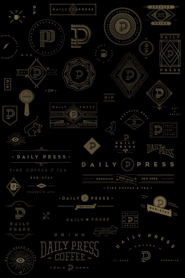 Daily Press Identity on Branding Served