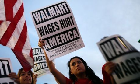 'Walmart moms' walk off the job in protest at pay and conditions