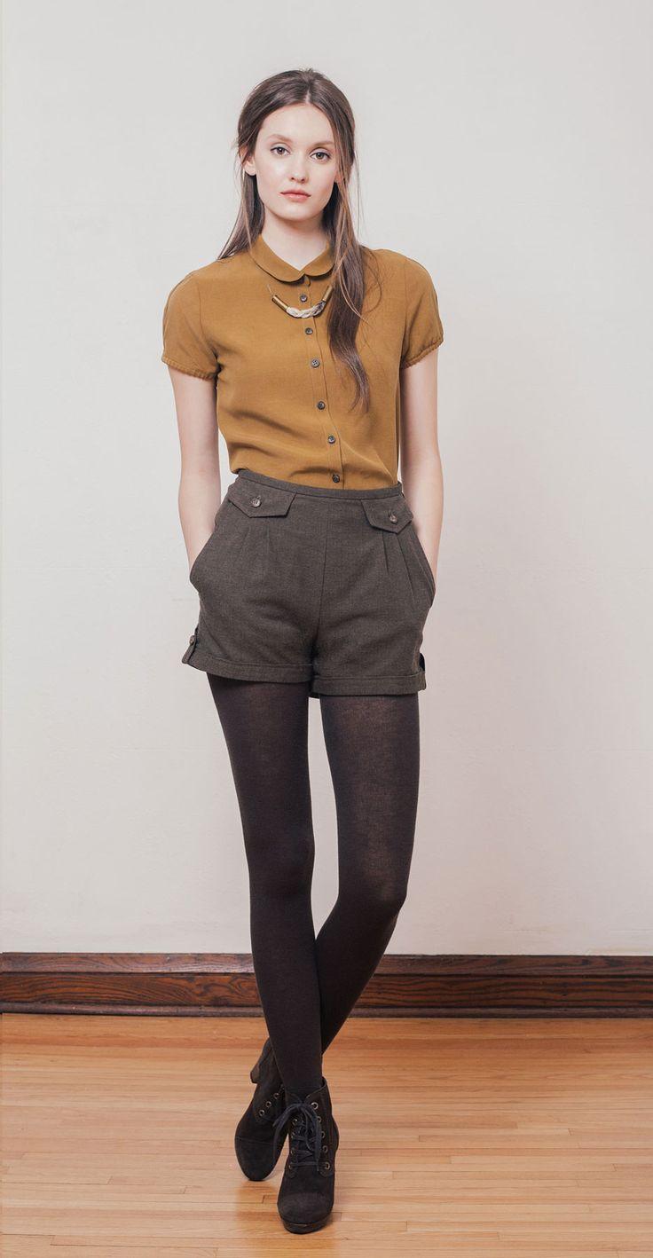 Blusa camel / Short marrón