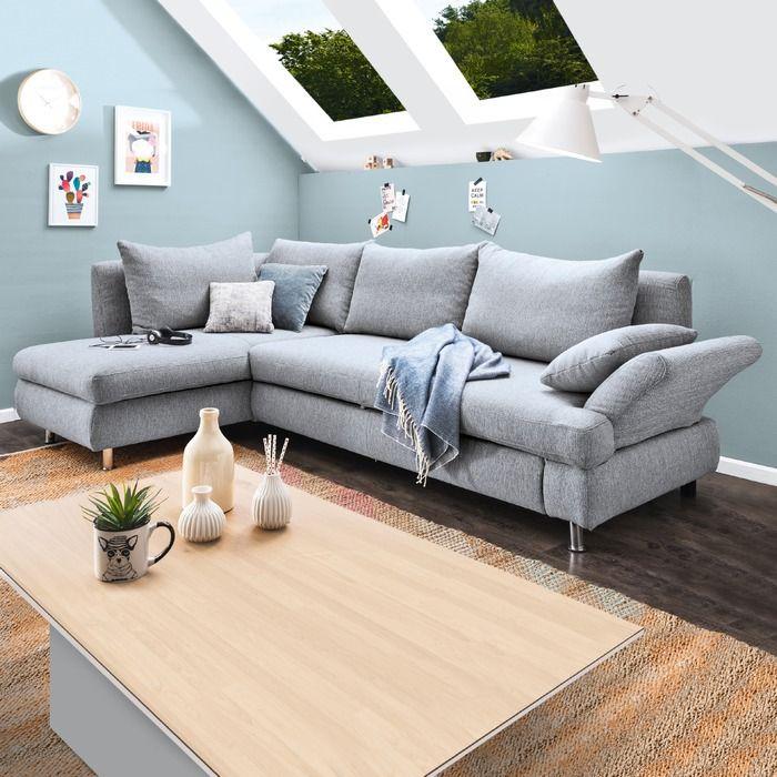 Ecksofa Leo Grau Online Kaufen Bei Segmuller In 2020 Dachschrage Einrichten Wohnzimmer Ecksofa