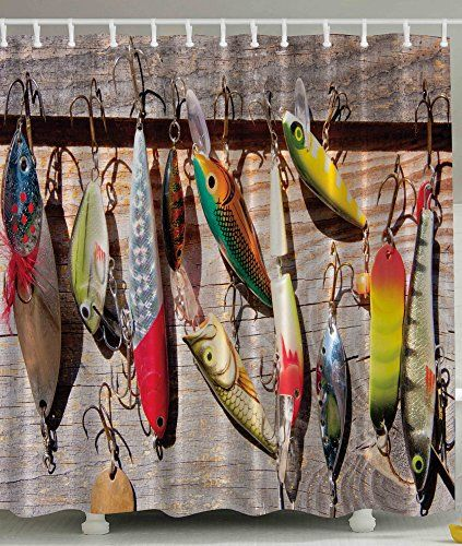 78 best shower curtain images on pinterest fabric shower for Bathroom fish decor