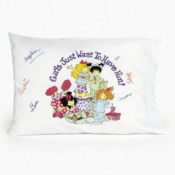 Slumber Party Autograph Pillow :  A fun way to collect all your friends' signatures at your next party with this fabric pillow case.