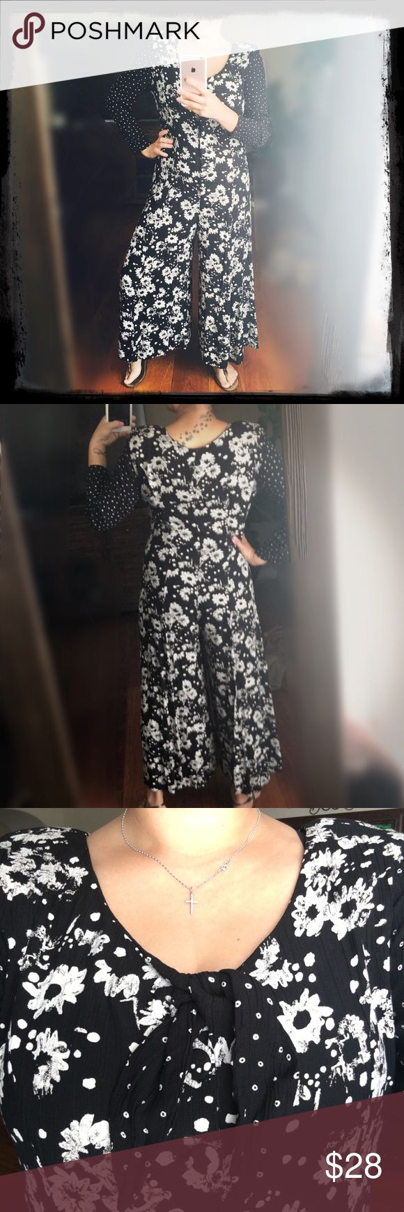 Vintage Black and White Jumpsuit Excellent Condition. Size not visible but I'm a large and it fits me. No Trades Other