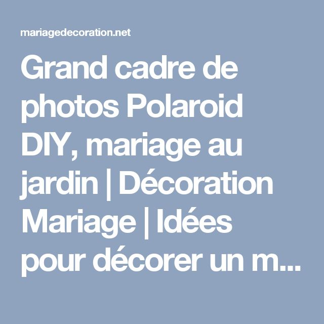 les 25 meilleures id es concernant d coration de polaroid sur pinterest bricolage polaro d. Black Bedroom Furniture Sets. Home Design Ideas
