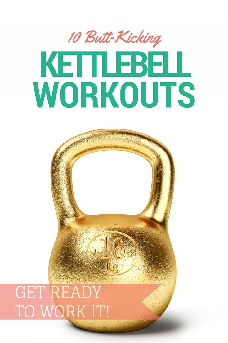 Step aside, dumbbells! These trending kettlebell workouts target muscle groups throughout the body for all-over tone. | spryliving.com