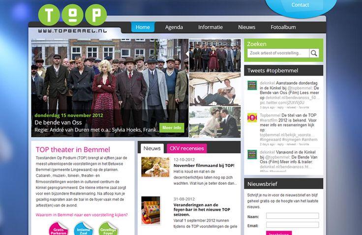 Complete website gerealiseerd voor TOP Bemmel. http://cowpunks.nl/portfolio_webdesign_websites_webapplicaties_onlinemarketing/top_bemmel