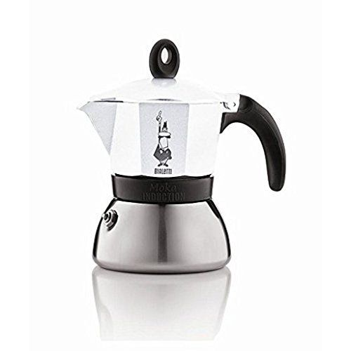 Bialetti Induction Moka Coffee Maker 6 Cup Aluminium and Stainless Steel White >>> Learn more by visiting the image link.