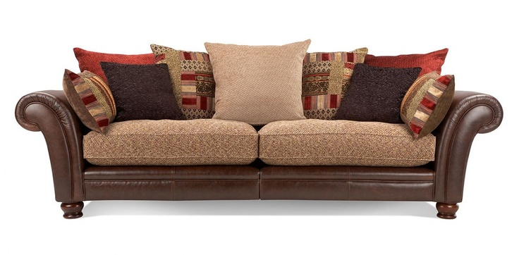 Leather Fabric Mix Sofa