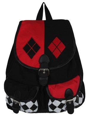 Harley Quinn Logo Satchel Backpack