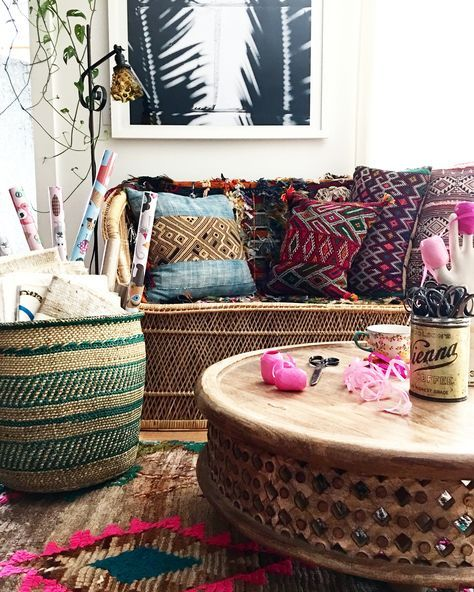 Colorful bohemian interior