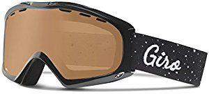 Giro Women's Siren Goggle Color: Black hereafter Lens Color: Amber Rose
