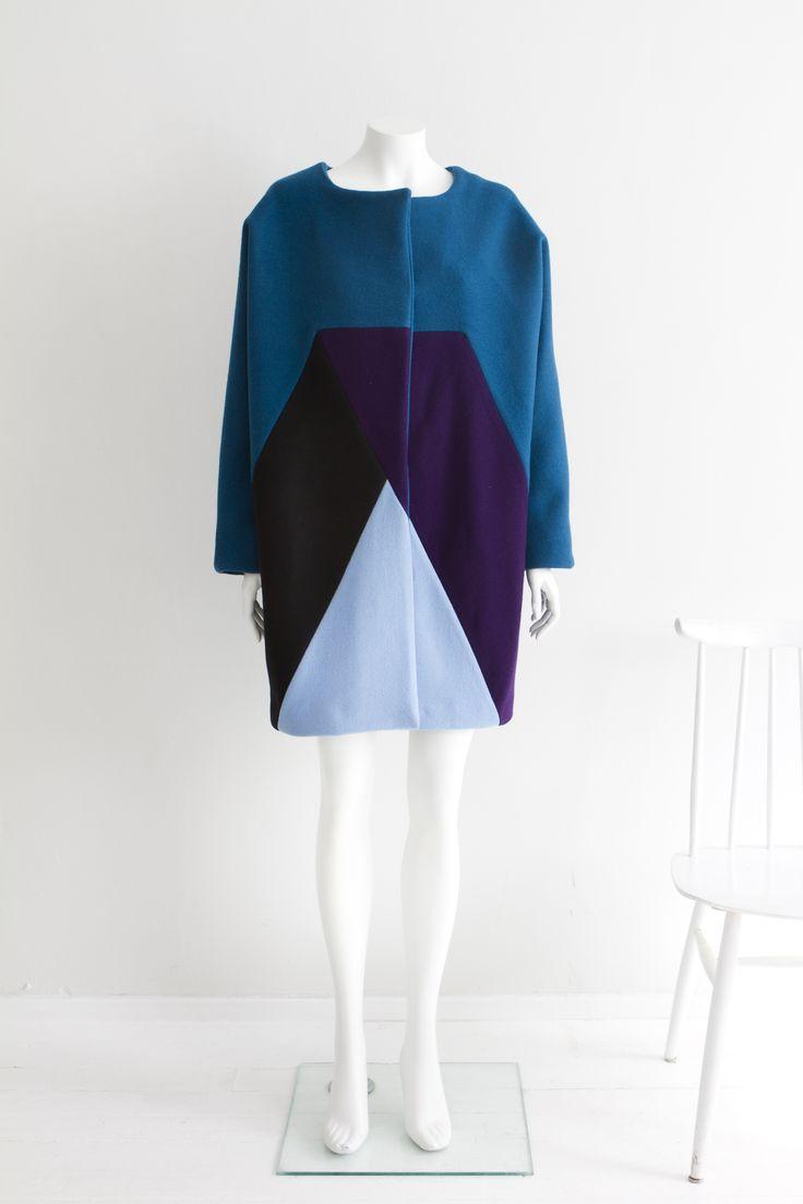 """""""Geometry"""" Hanna Sarén AW13 / woollen overcoat"""