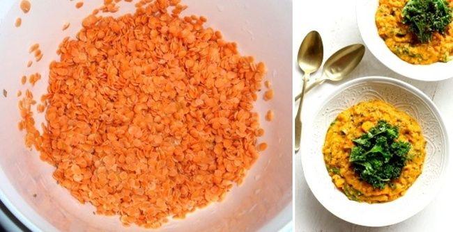 Dusená šošovica sa dá konzumovať samotná, ale aj aj príloha kmäsu. Moju najobľúbenejšou je pri dusenom mäse, ale máme ju radi aj kčerstvému pečivu na večeru. Ako príloha sa dá kombinovať napríklad sryžou. Budeme potrebovať: 500 g červenej šošovice trochu paradajkového pretlaku, alebo paradajok z konzervy 2 strúčiky cesnaku 2 ks mrkvy 1 ks cibule