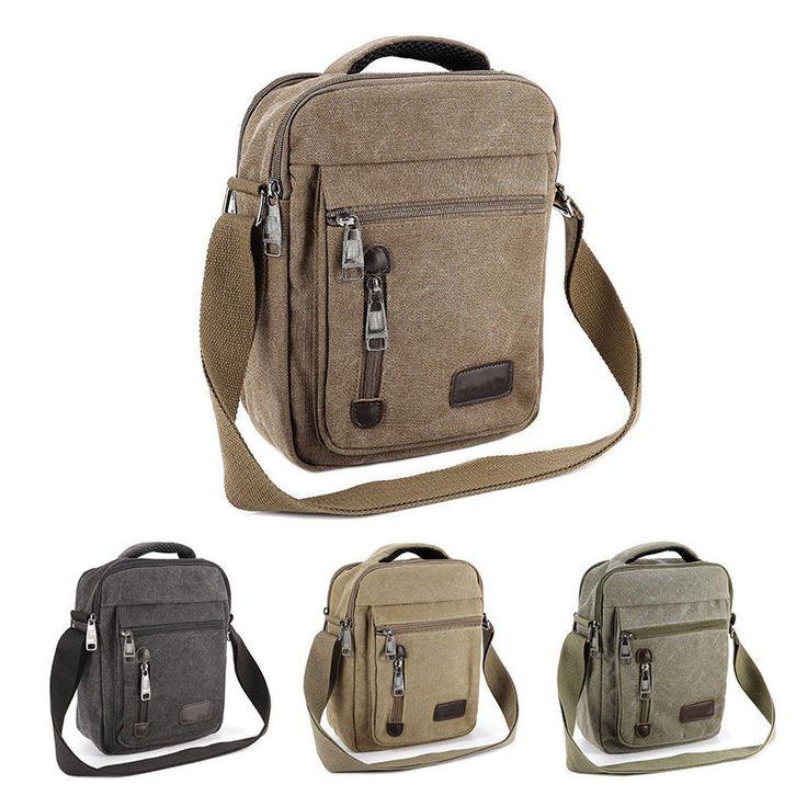 Men's Vintage Canvas Schoolbag Satchel Shoulder Messenger Bag Laptop Bags