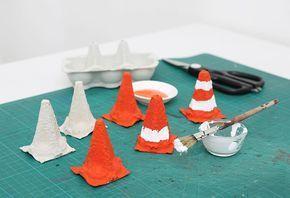 Pylon: Bastelidee für den Baustellengeburtstag | Tambini – Spielen und Basteln