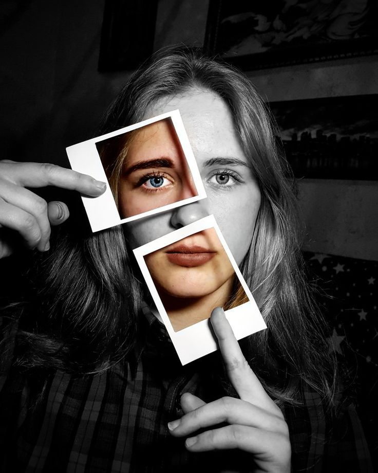 Polaroid Foto Idee Schwarz Weiß Illusion Bildbearbeitung Tutorial Adobe Photoshop Lightroom Picsart kreativ