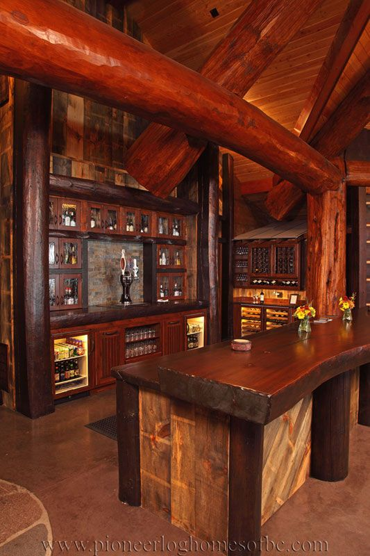 Bar Games S Mores Bar Game Rooms Log Homes Log Cabins Compliment Logs