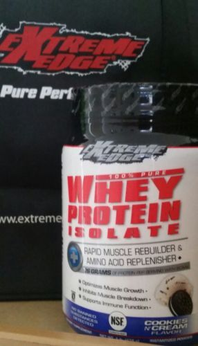 Extreme Edge 100% Pure Whey Protein Isolate Cookies n'Cream 1lb