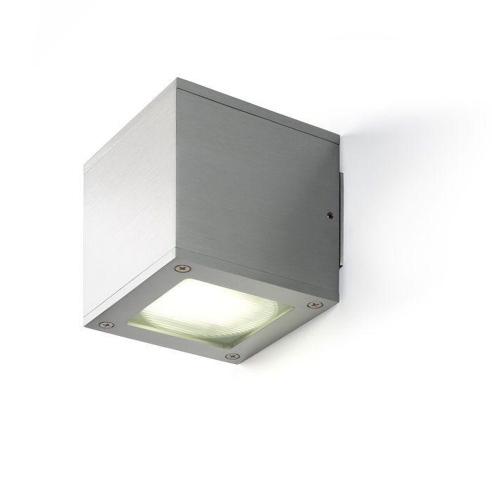 DIBI - Nástenné hliníkové UP / DOWN svietidlo s čírym krycím sklom. Do svietidiel je možné použiť svetelné zdroje o max. výške 24mm.