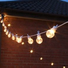Connectable Festoon Lights 20 Warm White Clear LED White Cable 8m & 24 best Cafe lights images on Pinterest | Festoon lights Cable and ...