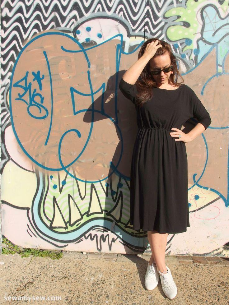 April Rhodes Staple Dress in black jersey