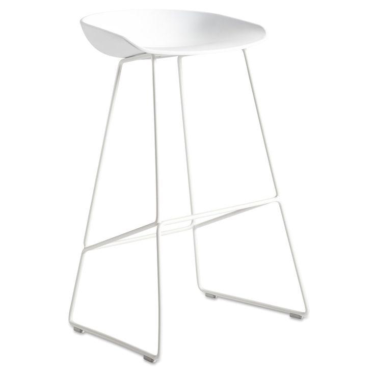 About a Stool Sled barstol h75, hvit/hvit i gruppen Møbler / Stoler / Barstoler hos ROOM21.no (132416)