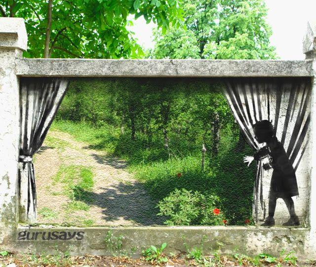 Hackschnitzel - Street Art: Gurusays